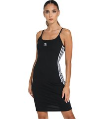 slim model dress with contrasting side bands