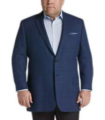 pronto uomo platinum executive fit sport coat blue check