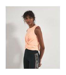 blusa regata esportiva com detalhe torcido na frente | get over | rosa | p