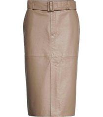 rinora knälång kjol brun custommade