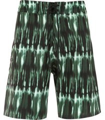 track & field swim shorts - green
