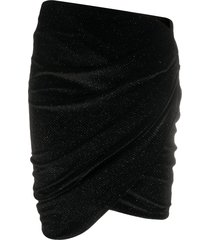 alexandre vauthier velvet mini skirt - black