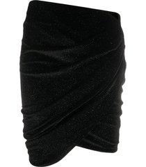 alexandre vauthier velvet mini skirt - black