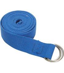jade yoga d-ring strap 8' blue cotton