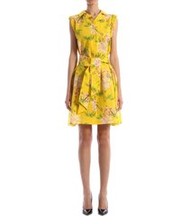 kenzo multicolor floral dress yellow