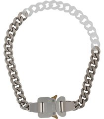 1017 alyx 9sm chain buckle necklace - silver