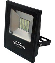 refletor led 20w bivolt 6000k slim preto luz branca