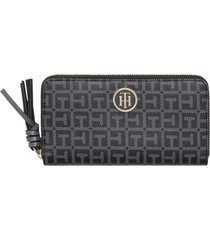 billetera negra tommy hilfiger core love tommy large