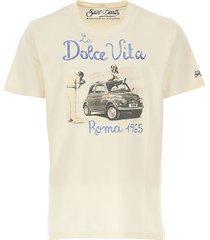 mc2 saint barth cotton t-shirt with la dolce vita roma print