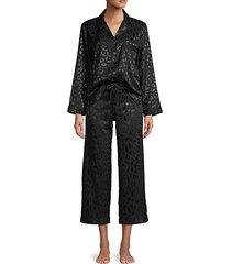 2-piece leopard-print pajama set