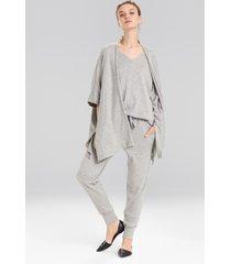 retreat jersey sweater knit topper jacket, women's, grey, size m, n natori