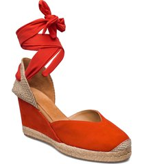 chufy_21_ks sandalette med klack espadrilles orange unisa