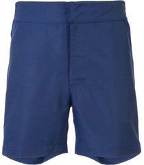 frescobol carioca plain swim shorts - azul