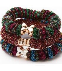 bandas elasticas brillantes color surtido, talla uni