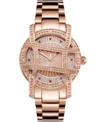 jbw 10 yr anniversary women's olympia diamond (1/5 ct.t.w.) 18k rose gold plated watch