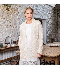 the oranmore aran coat cream l