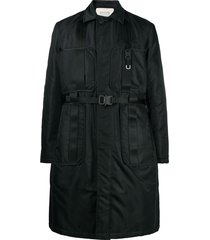 1017 alyx 9sm buckle-detail single breasted coat - black