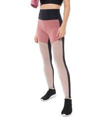 legging hope recortes preta/rosa - kanui
