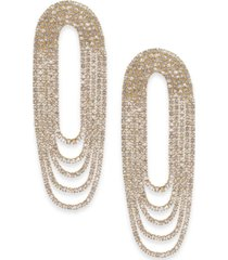 thalia sodi gold-tone crystal multi-loop drop earrings, created for macy's