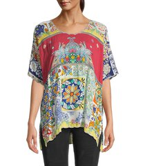 johnny was women's rosalina printed top - size s