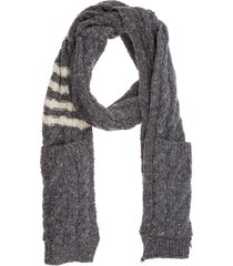 thom browne coffeeze wool scarf