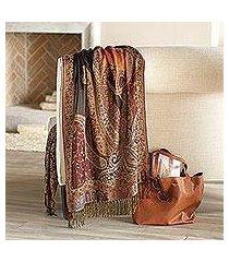 jamawar wool shawl, 'himalayan heirloom' (india)