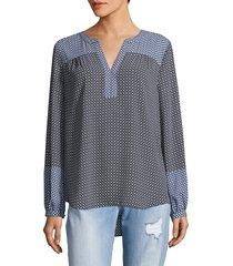 not your daughter's jeans women's sage diamond top - light grey - size xxs