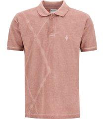 marcelo burlon tie-dye print polo shirt
