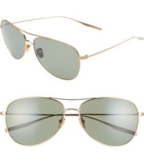 men's salt. mckean 59mm aviator sunglasses - honey gold