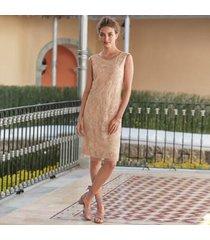 sundance catalog women's cluny shift dress in blush large