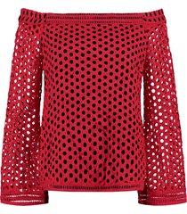 rood met zwart nikkie dames shirt - n6-999 1902 3623