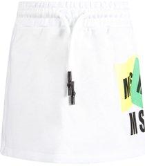 msgm white skirt with logos for girl