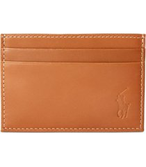polo ralph lauren men's burnished leather card case with money clip