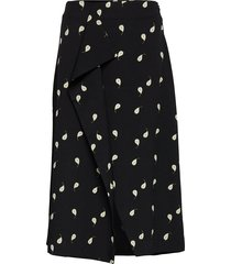 cotentin pear print knälång kjol svart whyred