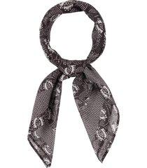 rebecca minkoff cotton & silk bandana in black at nordstrom