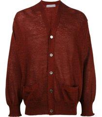 comme des garçons pre-owned 2000 v-neck fine knit cardigan - grey