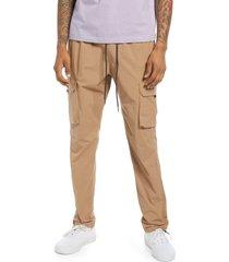 men's pacsun benton slim nylon cargo pants, size x-large - beige