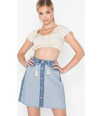 noisy may nmsunny hw color block short skirt minikjolar
