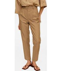 mango women's darts lyocell trousers