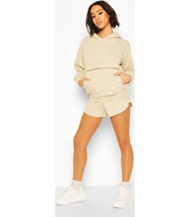 hoodie en shorts set, zand
