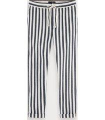 scotch & soda warren - katoen-linnen broek | regular straight fit