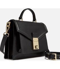 ted baker women's kimmiee luggage lock mini satchel - black