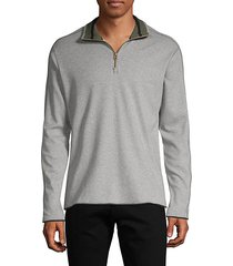 elliot cotton quarter-zip sweater
