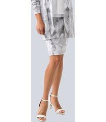 kjol alba moda vit::grå