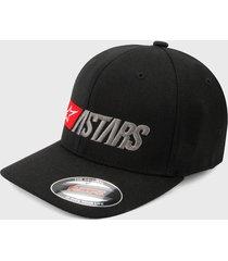 gorra negro-gris-rojo alpinestars indulgent