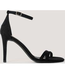 na-kd shoes högklackade sandaler - black