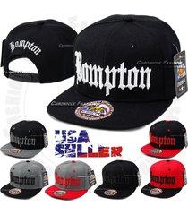 bompton snapback cap hat compton yg hip hop 3d embroidered flat bill baseball