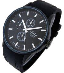 reloj  negro montreal caucho pulsera