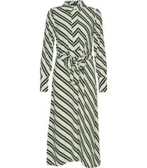 slfpixie-florenta ls midi dress b jurk knielengte groen selected femme