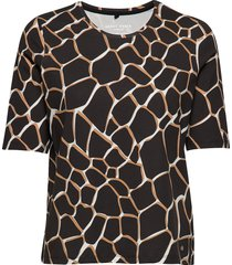 t-shirt 3/4-sleeve r t-shirts & tops short-sleeved multi/mönstrad gerry weber edition